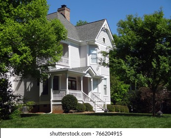 Old White Victorian Home - The American Dream
