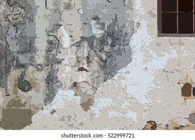 Old white walls