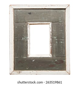 old white wood picture frame
