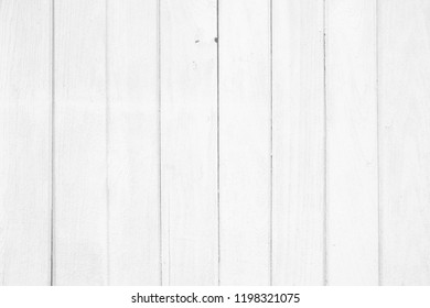 Old White Wooden Board Texture Background.