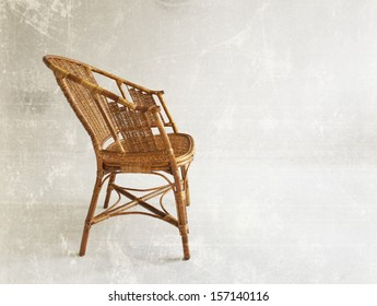 Old Wicker Chair.