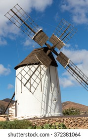 Old windmill in Antigua village, Fuerteventura, Canary Islands, Spain