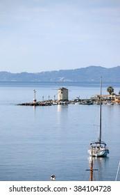old windmill Corfu town Greece