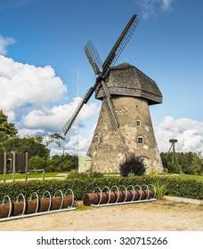 Old windmill, Europe. Region of Vidzeme is beauty place in Latvia where medieval history meets with marvelous scenic landscapes