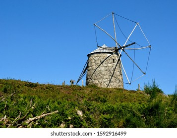 Old windmill in Fafe, north of Portugal