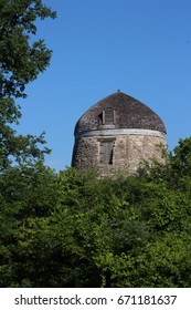 Old Windmill (Gristmill) Behind Trees