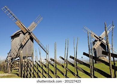 Old Windmill hill on island Saaremaa in Estonia