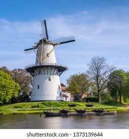 Old Windmill in Middelburg, Holland