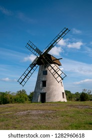 Old windmill on the island of Gotland, in Sweden