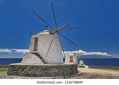 Old windmills at island Corvo (Azores)