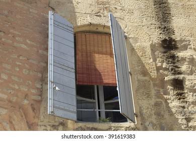 Old window in Arles, France