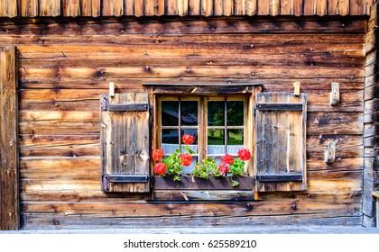 old window at a farm