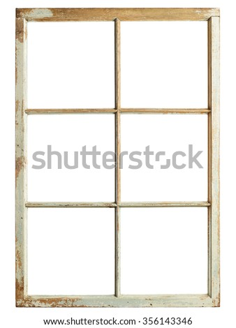 Old Window Frame Six Square Glazing Stock Photo (Edit Now) 356143346 ...