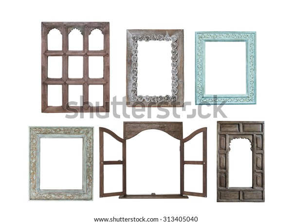 Old Window Frames Isolated On White Stock Photo Edit Now 313405040