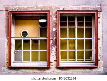 old window at a historic building