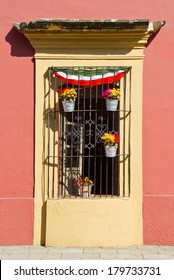 old window in Oaxaca, Mexico