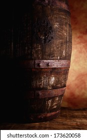 old wine barrel