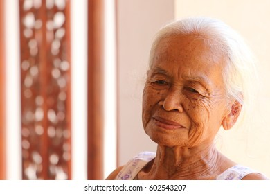 old woman.