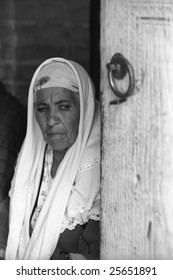 Old woman in Bukhara Uzbekistan
