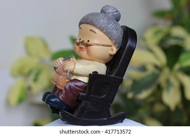 old  woman doll