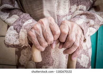 Old woman hands