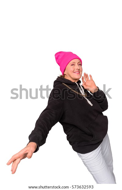 Old Woman Hiphop Outfit Making Moves Stock Photo (Edit Now) 573632593
