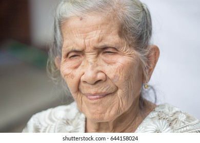 old woman outdoors