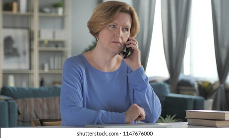 Old Woman Talking on Phone, Negotiation
