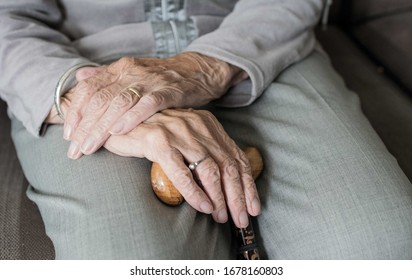 It is Old woman's hands.