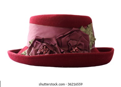 Old woman's red hat