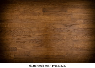Old Wood Background. Dark brown wooden planks for background. Top view.