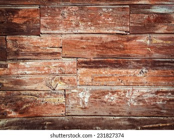 Old Wood Background - Vintage with red and brown colors