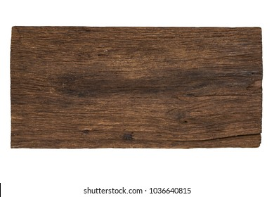 Old Wood Board Isolated on White Background
