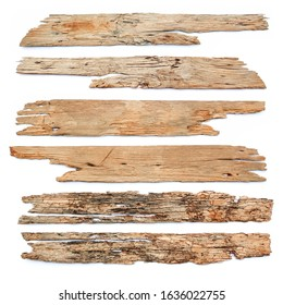old wood board isolated on white background , plank textures.