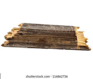 Old wood board  plank isolated on white
