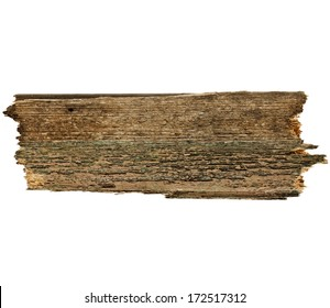 Old wood board plank surface texture  isolated on white