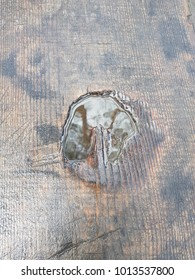 old wood board with water