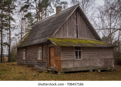 Old wood in the countryside. Near is beautiful forest