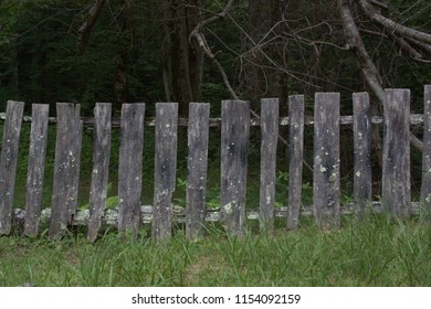 Old wood fence horizontal view