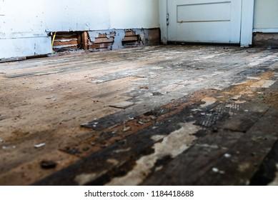 old wood flooring needing restoration