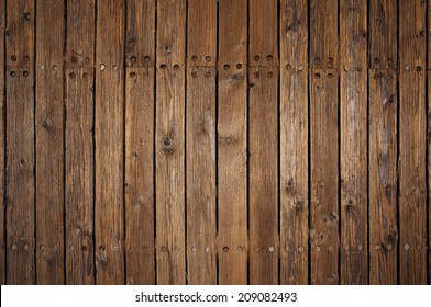 Old wood flooring on a pier in San Francisco