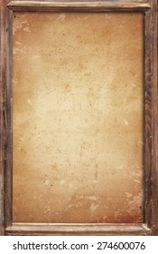 old wood frame with old paper background