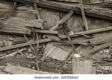 old wood on the floor