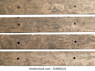 Old wood piece signpost isolated on white background