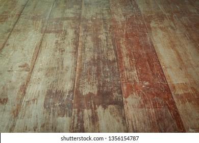 old wood plank of floor