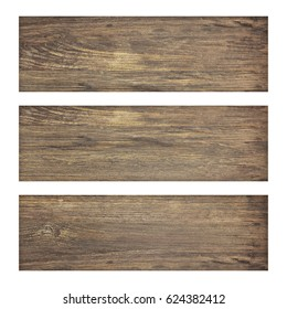 old wood plank isolate on white background