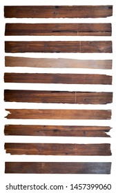 Old Wood plank, isolated on white background (Save Paths For design work)