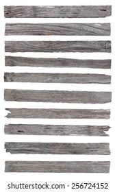 Old Wood plank, isolated on white background