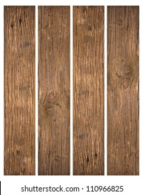 old wood planks textures isolated on white