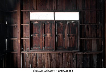 old wood room interior and window for background